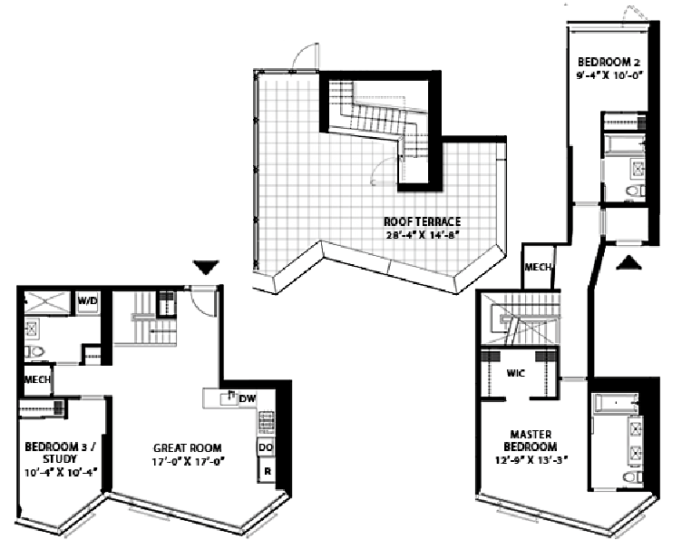 Cheap Condo Apartments With Unique Floorplans With Nyc 3 Bedroom Apartments