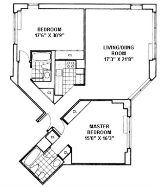 Apartments with unique floorplans in new york nyc for Floor plans manhattan apartment buildings