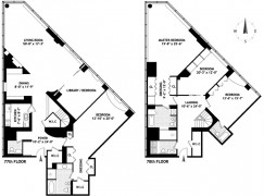 Penthouses with unique floorplan in manhattan new york nyc for House plans for triangular lots