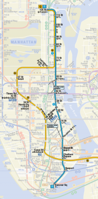 2nd Avenue Subway Map in NYC Manhattan New York
