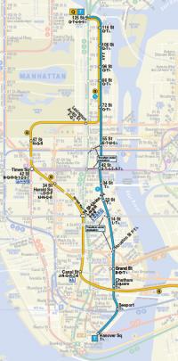 2nd Avenue Subway Map in NYC Manhattan New York
