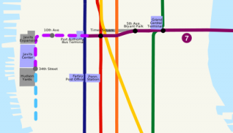 NYC 7 Train Extention Map for New York Real Estate Investment reference