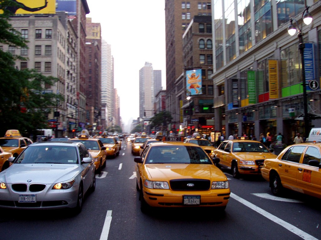 Taxis in Manhattan New York